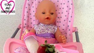 Видео с куклой Пупсик Играем в дочки матери Игрушки для Девочек Готовим Обед Baby Doll Food
