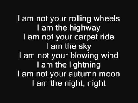 I Am The Highway  Audioslave With Lyrics