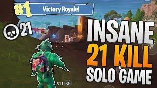 21 KILL SOLO GAME! Fortnite Mobile Personal High Kill Record