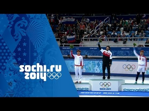 Men's Short Track Speed Skating - 1500m - Hamelin Wins Gold    Sochi 2014 Winter Olympics