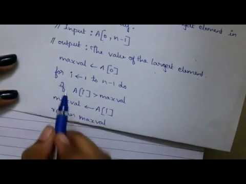 Unit 1: Analysis of Non Recursive Algorithms(Maximum Element in the Array)