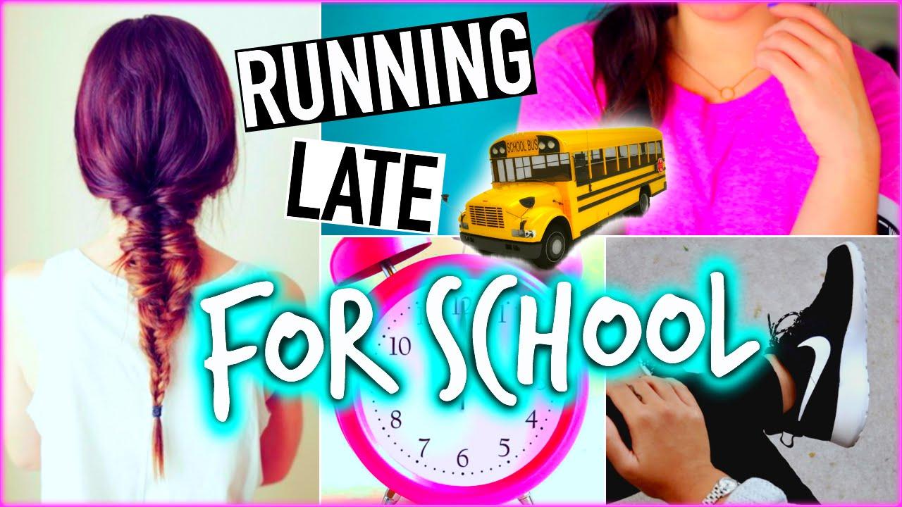 running late school hairstyles