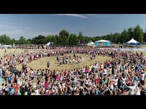 5-й Международный день йоги в России 2019: Эко-Флешмоб Земля!