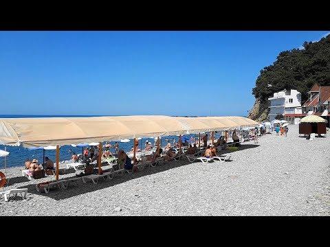 Джанхот в июне.  Море, пляж