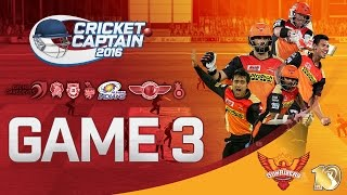 INTERNATIONAL CRICKET CAPTAIN 2016 | SUNRISERS HYDERABAD IPL | GAME 3 (SRH VS MI)