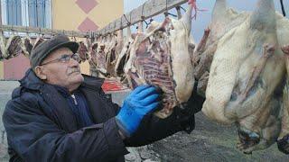 Kars kazı - Kars'ta kaz kesimi başladı - Azeri yemekleri - roast goose -  أوزة مشوية