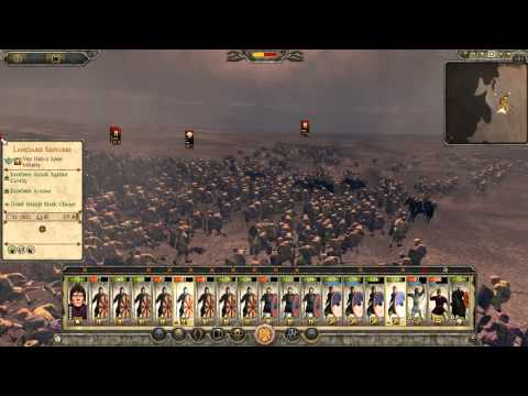 Total War Attila battle gameplay : Eastern roman empire and Nobatia