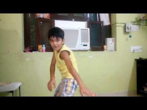 A kid dancing on DJ Bravo's Champion lol