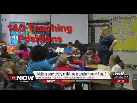 Report shows Indianapolis Public Schools needs to hire hundreds of teachers