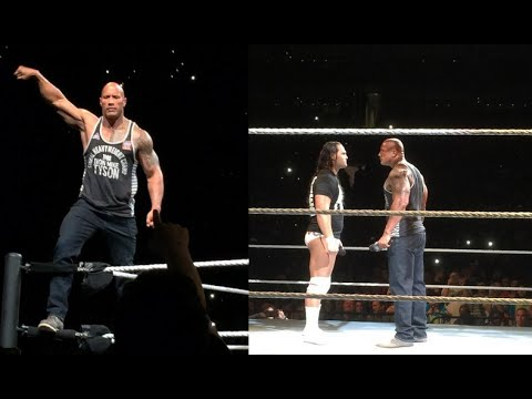 The Rock Returns At WWE Live Event & Lays Out Bo Dallas