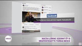 Nacsa Lőrinc szerint őt is megfenyegette Tordai Bence