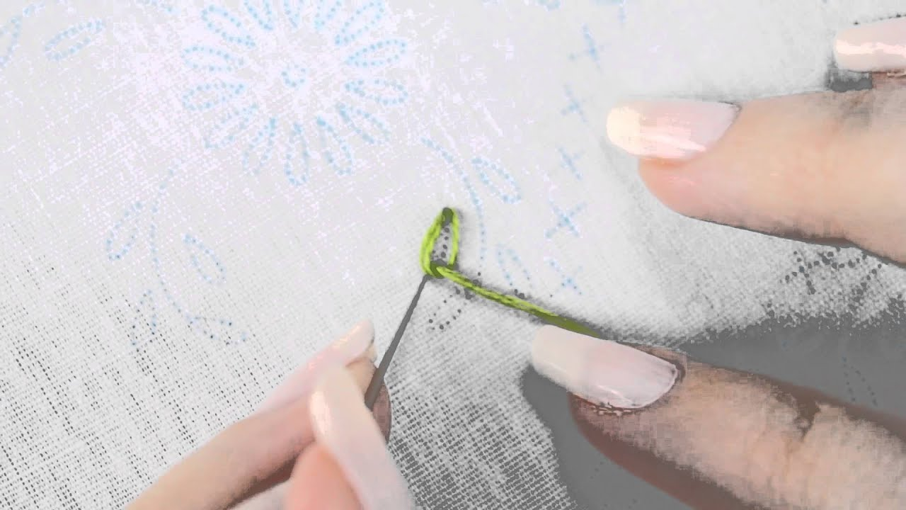 How To Embroider A Loop Stitch Youtube