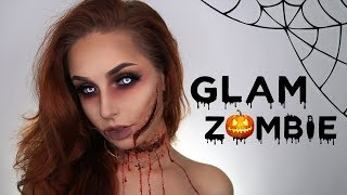 GLAM ZOMBIE HALLOWEEN MAKEUP TUTORIAL | With love, Nadia