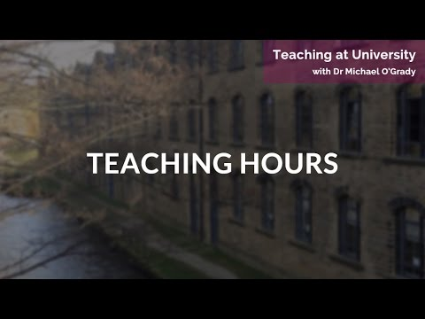 Teaching at Unversity: Teaching Hours | Sophie Thomas