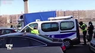 Fourgon de police caillassé à Lyon: les nouvelles images filmées par des manifestants