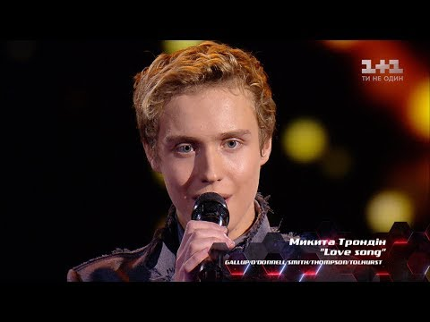 Nikita Trondin 'Love song' – Blind Audition – The Voice of Ukraine – season 8
