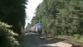 Amtrak Downeaster westbound at Ocean Park, Maine 8/23/08