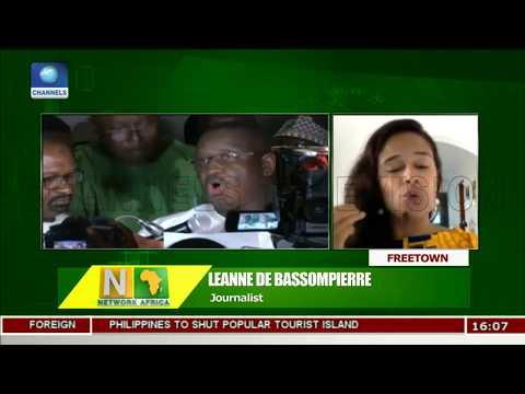 Sierra Leone President Elect Takes Oath In A Hotel |Network Africa|