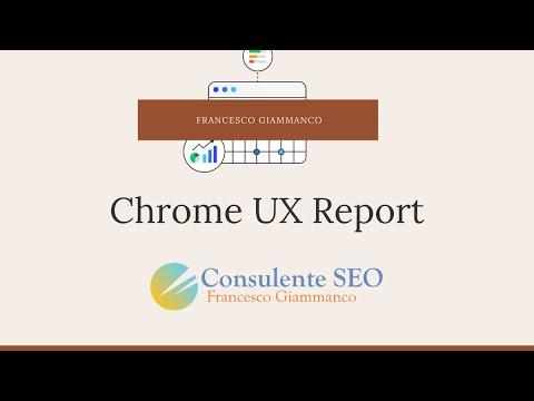 Creazione Chrome UX Report - Core Web Vitals