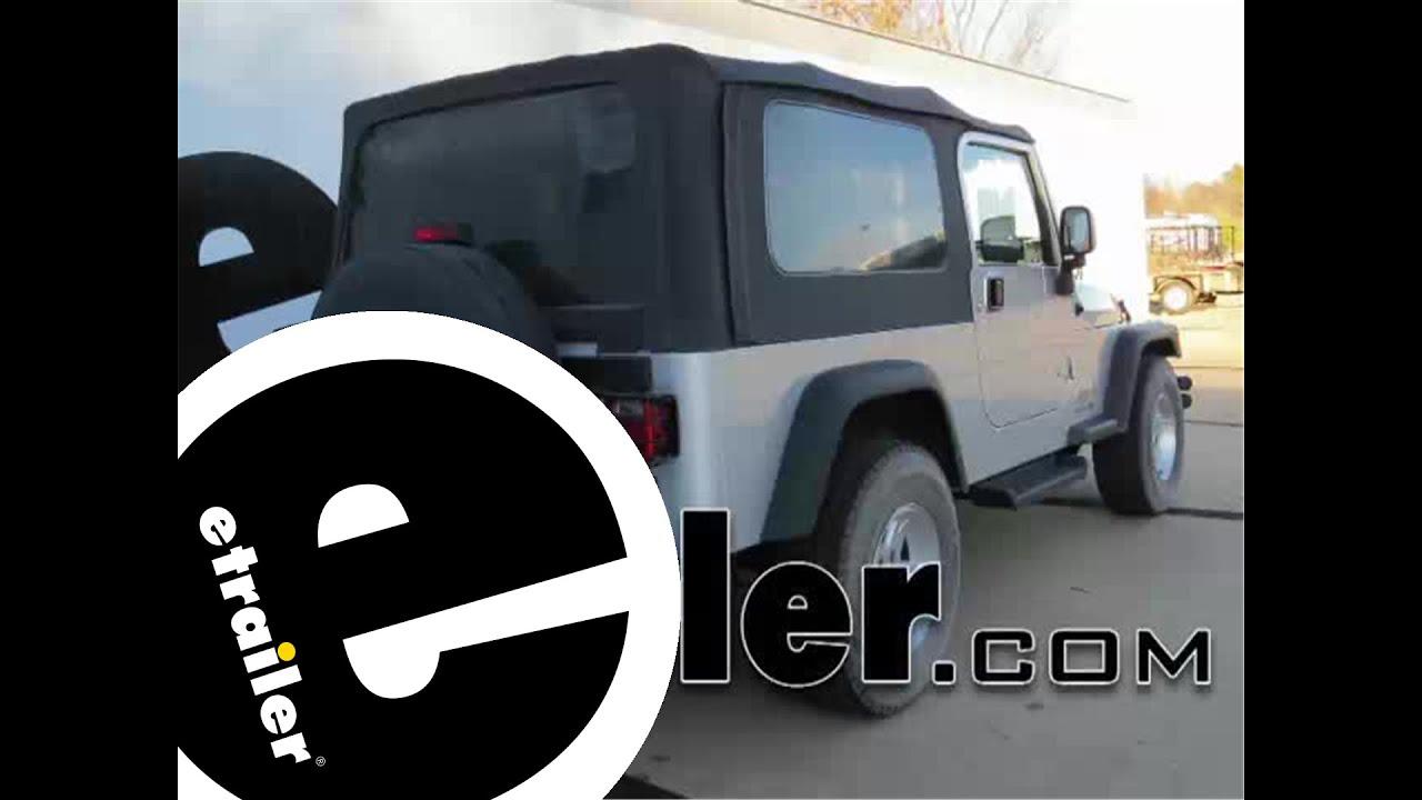 Trailer Hitch Installation 2004 Jeep Wrangler Curt etrailer