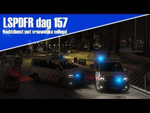 GTA 5 lspdfr dag 157 - Nachtdienst met vrouwelijke collega in de T6!