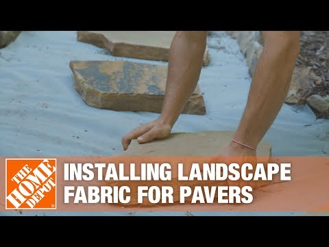 How To Install Landscape Fabric For A Step Stone Walkway