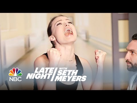 Olivia Wilde Accepts the Actathalon Challenge! - Late Night with Seth Meyers