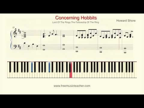 "How To Play Piano: Lord Of The Rings ""Concerning Hobbits"" Piano Tutorial by Ramin Yousefi"