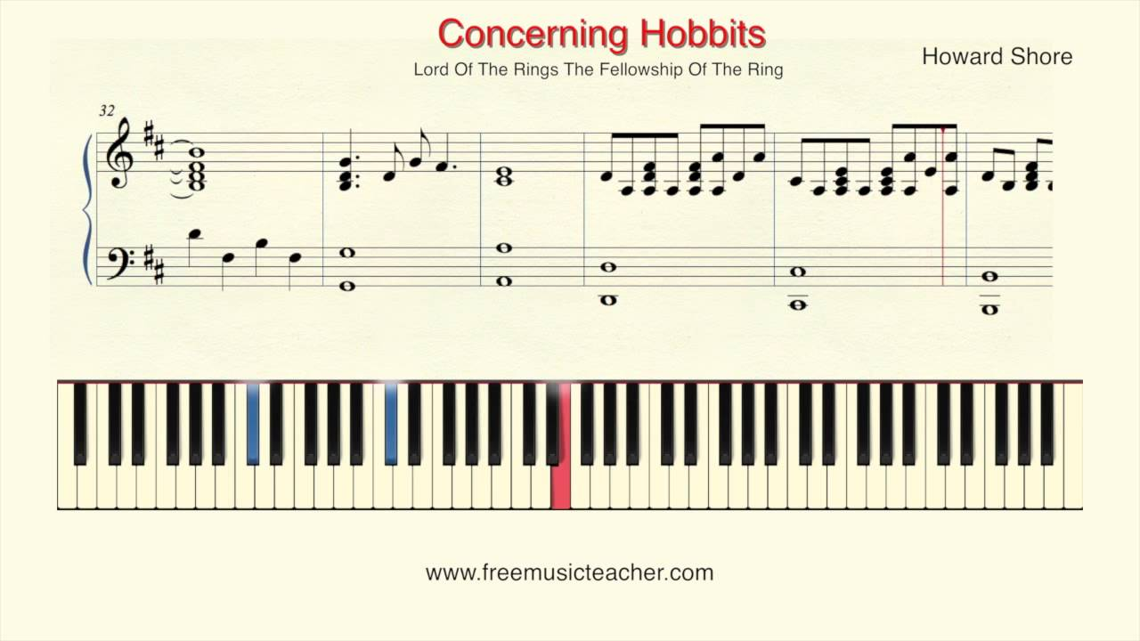 How To Play Piano Lord Of The Rings Concerning Hobbits Piano