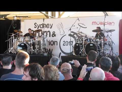 Virgil Donati & Thomas Lang together on stage! Sydney, Australia 27.5.2017