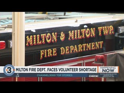 Milton Fire Department faces volunteer firefighter shortage