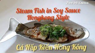 🇨🇦Steamed Fish in Soy Sauce Chinese Style [ Eng, Sub ] // Cá Hấp Kiểu Hồng Kong. Cuộc Sống Canada.