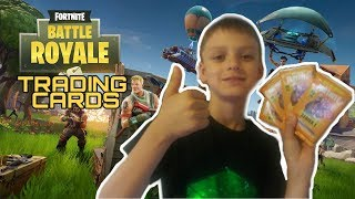 Opening 4 Packs of Panini Fortnite Series 1 Trading Card Collection! (Fortnite Battle Royale)