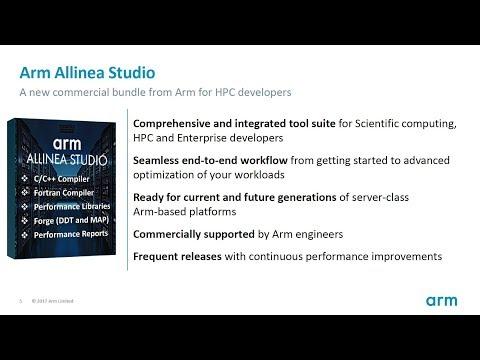 Arm Allinea Studio, Supercomputing Scientific performance tools for ARM Servers
