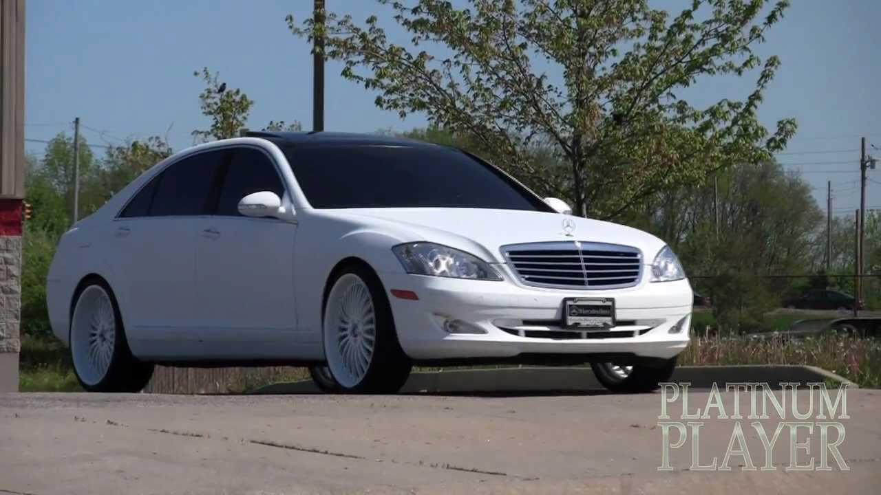 Spade made matte white mercedes benz midwest street ryders for Mercedes benz of bellevue