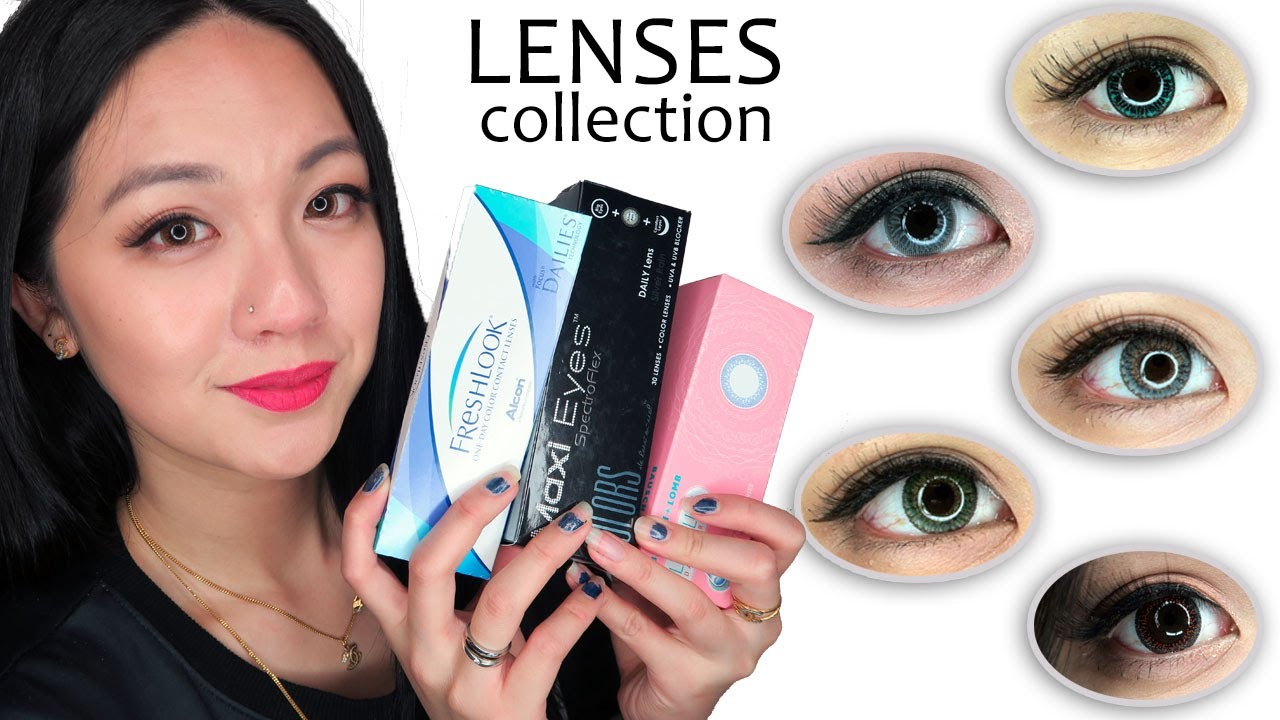 My Contact Lens Collection Circle Coloured Lenses Review Youtube