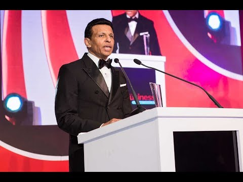 Winners stage: Arabian Business Achievement Awards 2017 - Sunny Varkey, GEMS Education
