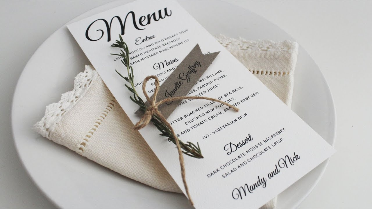 diy wedding tutorial rustic ribbon style place cards
