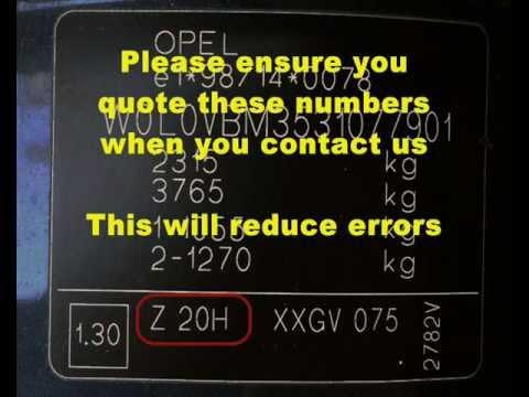 VAUXHALL OPEL Omega Vehicle ID Number & Paint Code Location