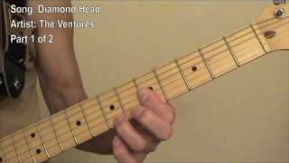 Guitar lesson for the instrumental Diamond Head as played by the Ve...