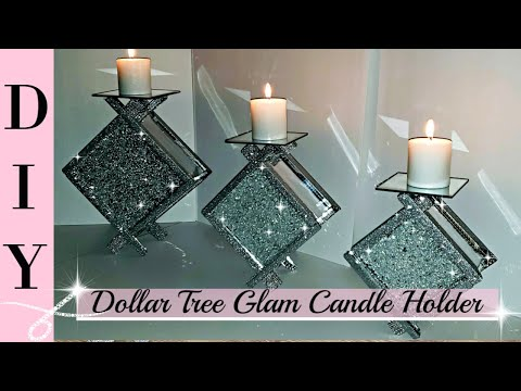 DIY Dollar Tree Glam Candle Holder - DIY Home Decor - Room Decor - Dollar Tree - Bling DIY - Elegant from YouTube · Duration:  11 minutes 26 seconds