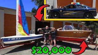 BOATS FOUND In Storage Unit! POLICE CALLED! I Bought An Abandoned Storage Unit And Found A BOAT!