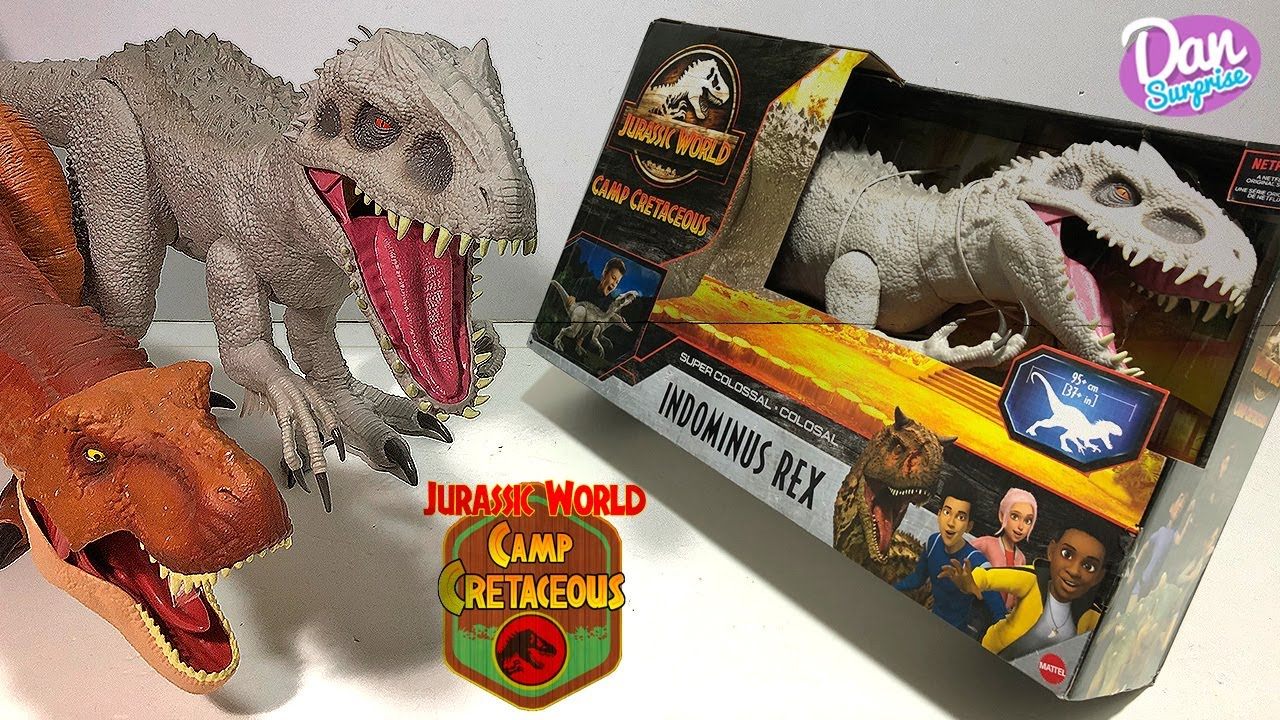 THE NEW SUPER COLOSSAL INDOMINUS REX IS HERE! Jurassic World Camp Cretaceous