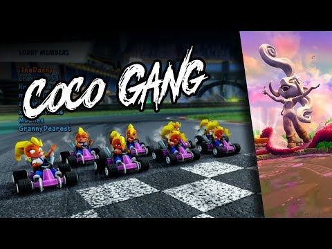 8 Retro Cocos In A 7 Lap Coco Park Race - Crash Team Racing: Nitro Fueled Online