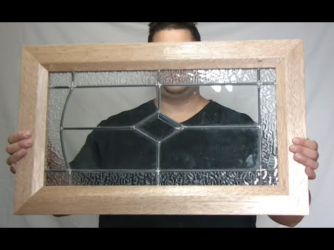 Making recycled Mahogany and stained glass door frames - YouTube