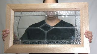Making recycled Mahogany and stained glass door frames