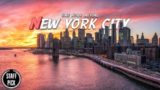 One Hour Aerial - New York City 2021 - Relaxation Music - 4K Drone Footage