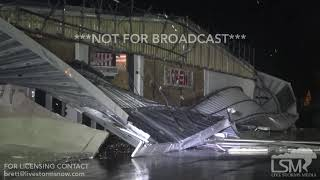 9-13-2018 New Bern, NC Grocery Store with roof and awning ripped off, power flashes, trees down