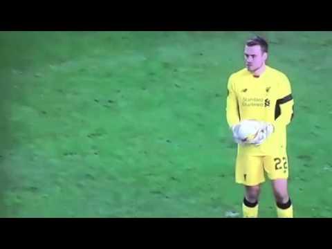 Stupid Simon Mignolet holding the ball