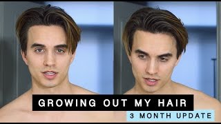Growing Out My Hair from an Undercut (3 month update) + men's hair tips